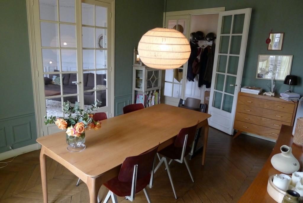 Table de repas 190 cm plateau chêne